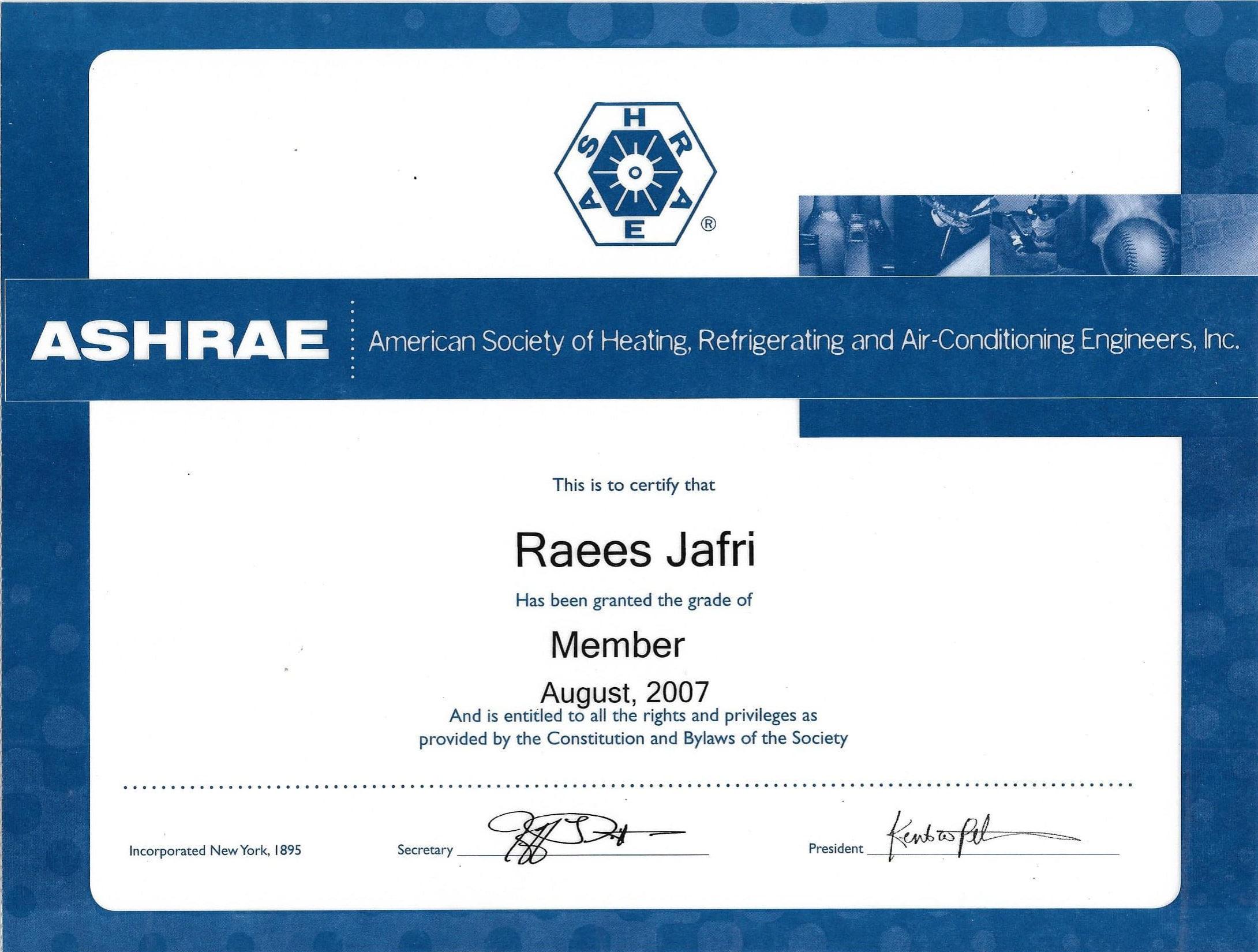 Membership ASHRAE-1