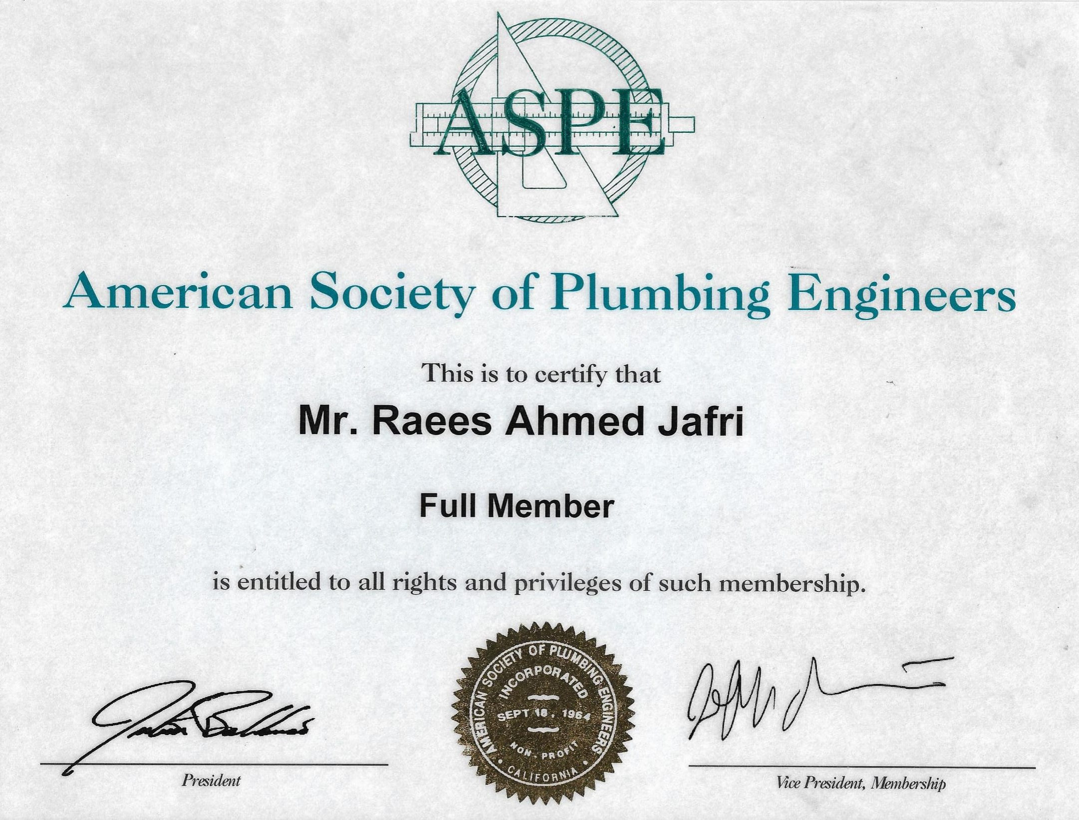 Membership ASPE-1