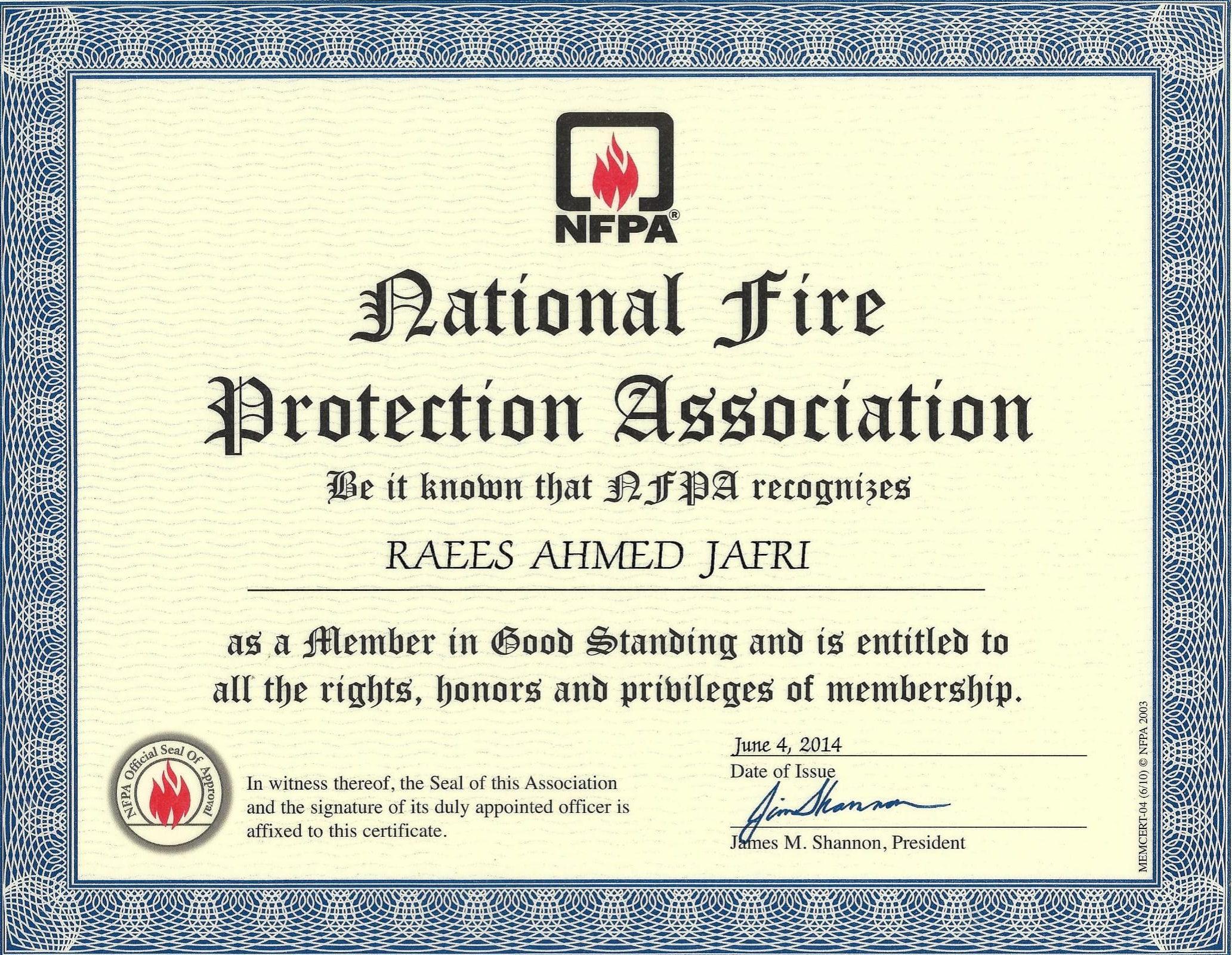 Membership NFPA-1